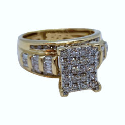 Yellow Gold Cinderella Ring