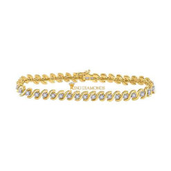 10K Yellow Gold Tennis Bracelet