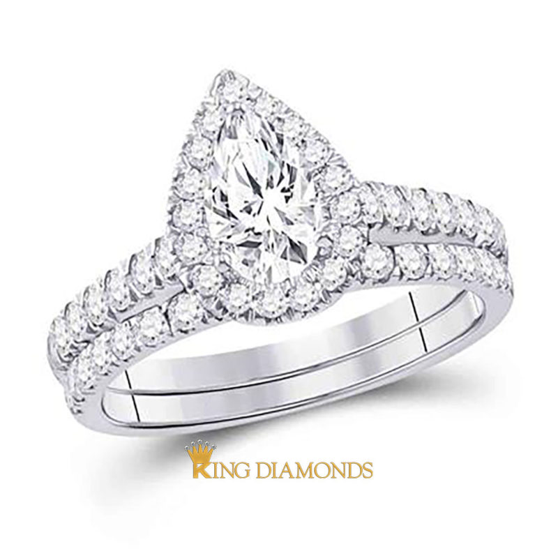 14K Pear Solitaire