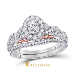 14K Two Tone Oval Solitaire